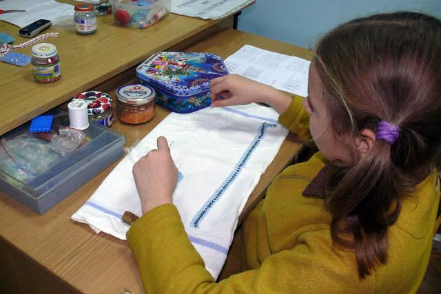 Вышивание для детей урок